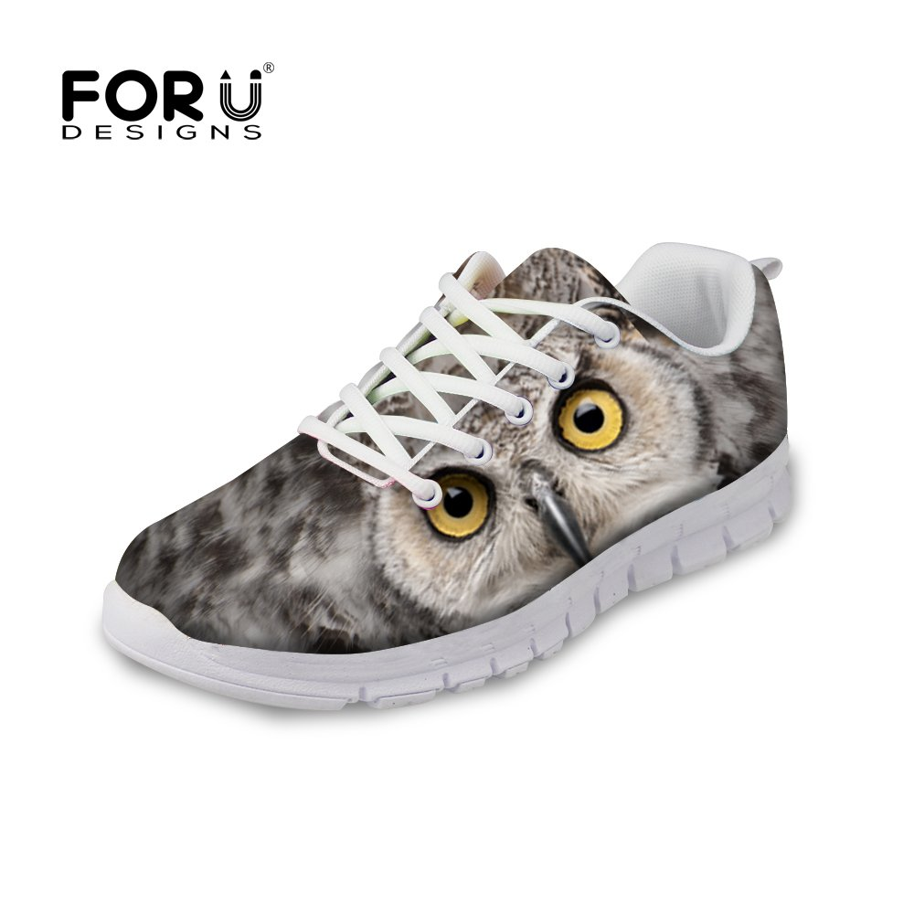 FOR U DESIGNS Casual Owl Style Women's Gusto Runner Comfortable Trail Running Shoes US 11