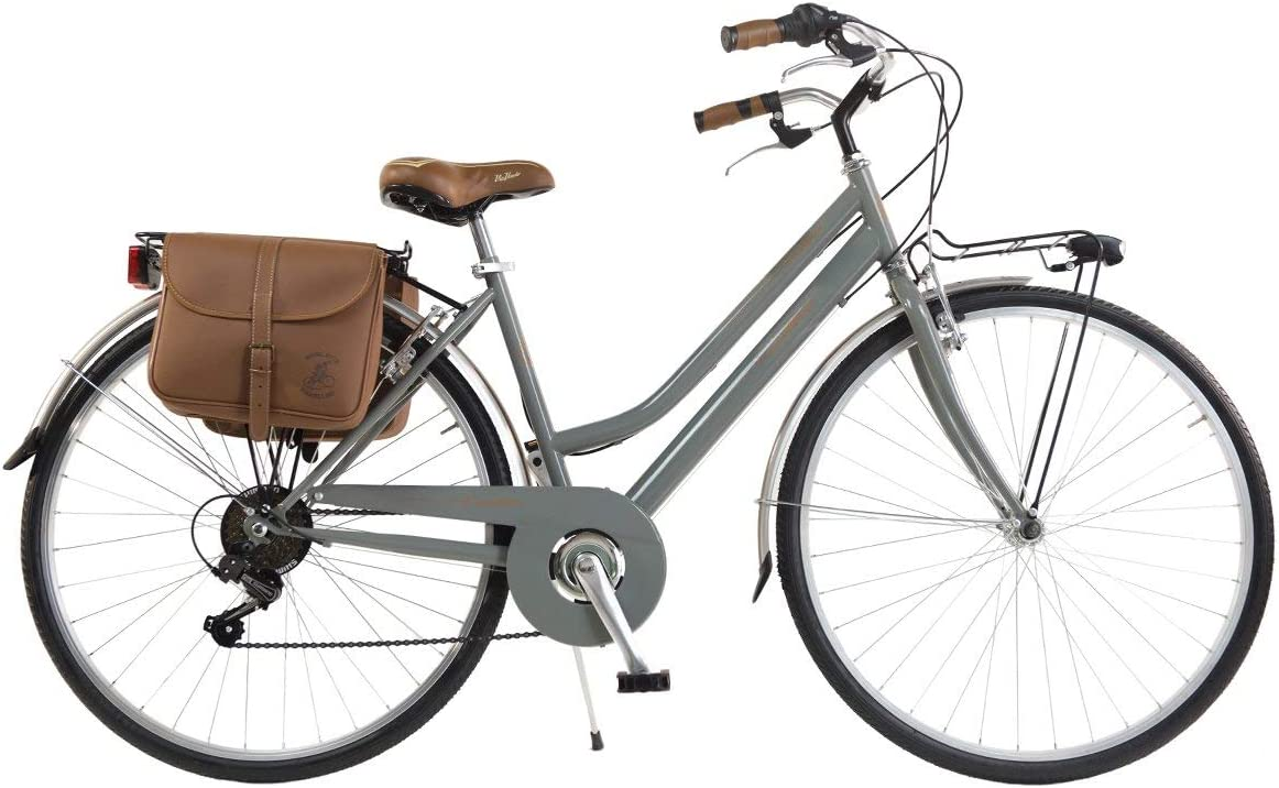Via Veneto by Canellini Bicicleta Bici Citybike CTB Mujer Vintage Retro Via Veneto Acero (Gris, 46): Amazon.es: Deportes y aire libre