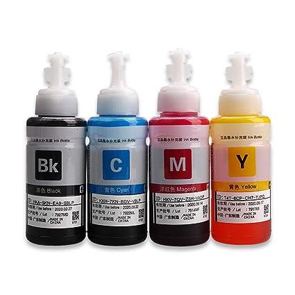 4 botellas de 70 ml de tinta Compatible con tinta Epson ...