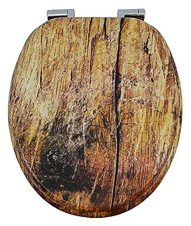 Wc Sitz Rustikal Holzkern Mit Absenkautomatik Edru01sc Amazon De