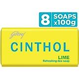 Cinthol Lime Bath Soap, 100g (Pack of 8)