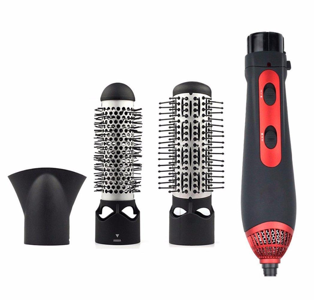 LZYD, spazzola ad aria calda 3 in 1, 1200 W, kit di strumenti per acconciature agli ioni negativi, (nero e rosso): Amazon.es: Belleza