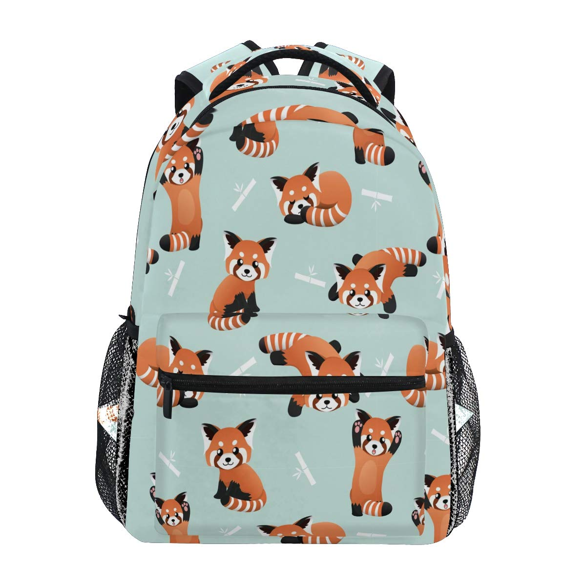 Large Capacity Backpack Outdoor Travel Daypacks with Pocket I Love Red Pandas