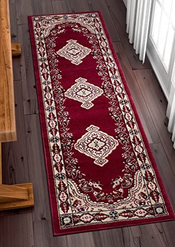 Well Woven Medallion Red 2 x 7 2 Runner Rug Carpet