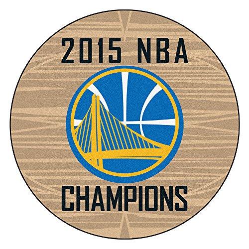 Fan Mats FAN-18264 Golden State Warriors 2015 NBA Champion Basketball Round Floor Mat, 29 (State University Basketball Area Rug)