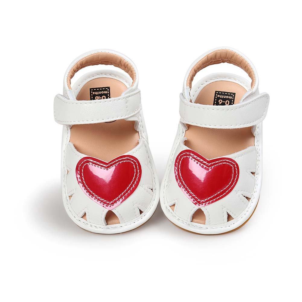 Baorong Baby Girls Pu Soft Rubber Sole Summer Close Toe Sandals Shoes