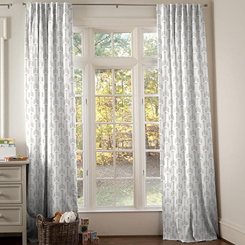 Carousel Designs Taupe Arrow Drape Panel 96-Inch Length Standard Lining 42-Inch Width by Carousel Designs