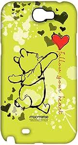 """حافظة هاتف سامسونج نوت 2 عليها عبارة """"Follow Your Heart"""" من مامريسي"""