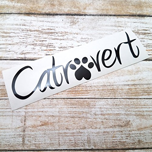 Catrovert Decal Sticker for Cat Lovers for use - Apple Crate Coffee Table