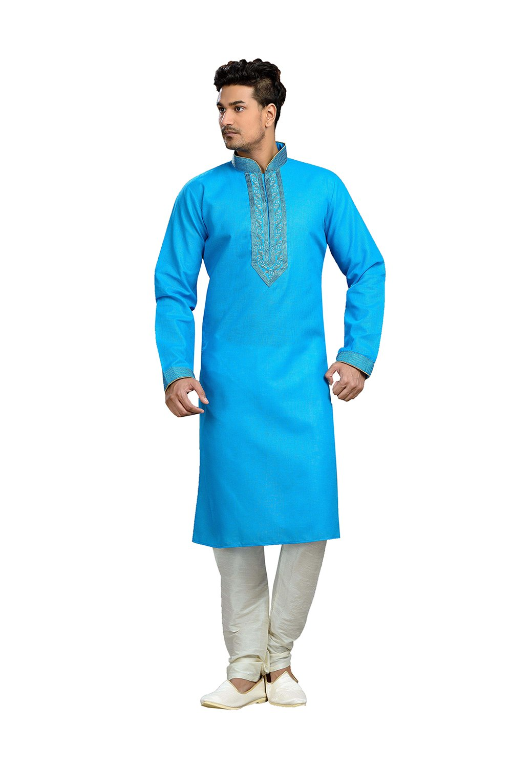 CANDY VINES Handmade Cotton Men's Kurta Pajamas Set - Traditional Indian Costume - Perfect For Casual Summer Dress