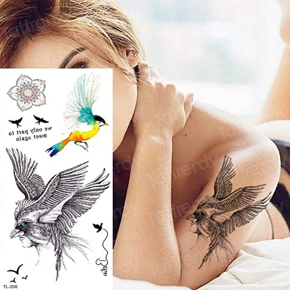 3ps-Tattoo tatuaje del cuerpo tatuaje animal elefante perro ...