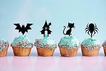 Decoración para cupcakes, decoración para pasteles de gatos, decoración para Halloween, Halloween,