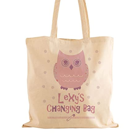 e47149014f76f Personalised Baby Girl Changing Bag, Natural Cotton Shoulder Bag, Gifts for  Newborn Babies and Mums: Amazon.co.uk: Kitchen & Home