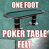 1 Foot Section of Olive Green Poker Table Cloth Felt. Top Quality to Build Your Poker Table. You Pick the Length.