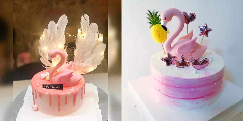decoraci/ón de fiesta para boda Decoraci/ón para tarta de flamencos fiesta de cumplea/ños