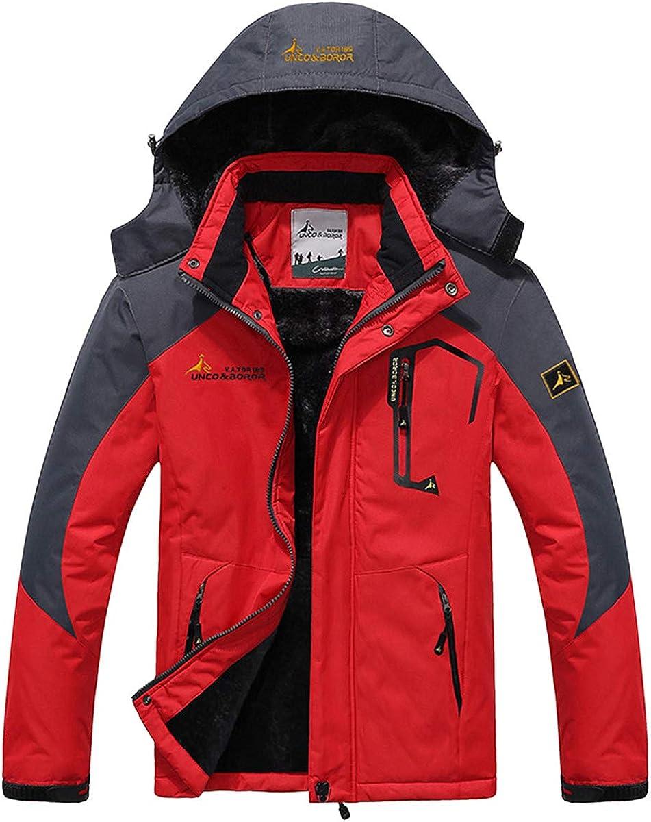 Panegy - Chaqueta para Hombre Abrigo Impermeable para Deportes Esquí Invierno Chaqueta de Nieve a Prueba Viento - Negro Verde Azul Caqui Rojo Marrón - Talla asiático L XL XXL 3XL 4XL