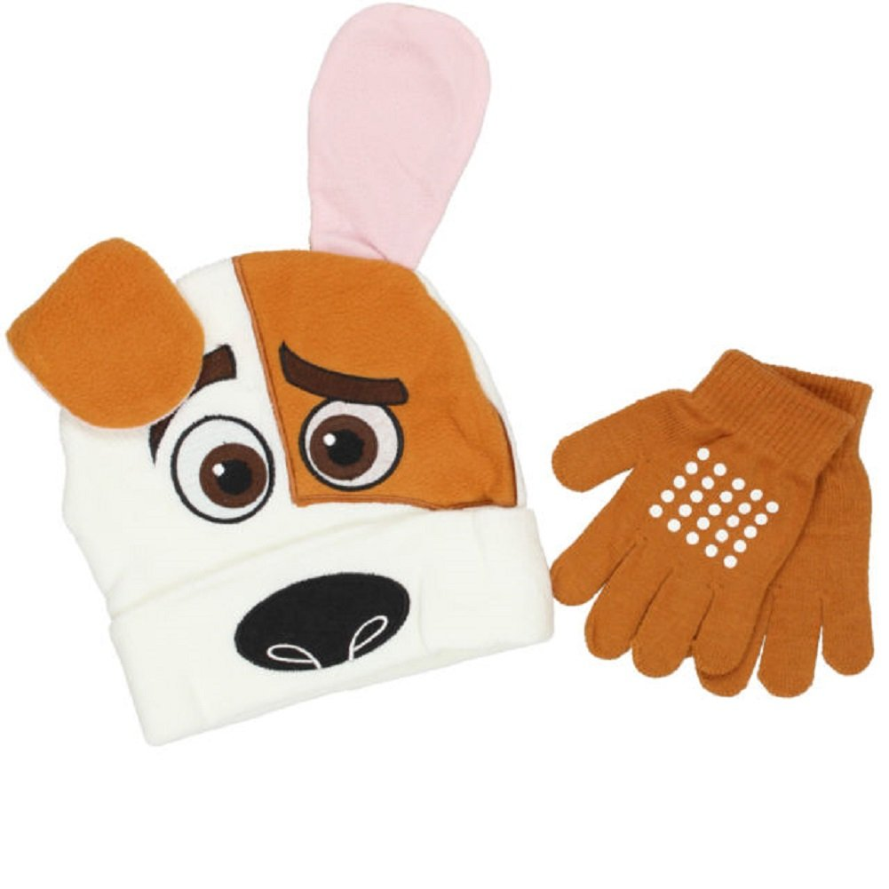 Piece Set Max Dog Hat Gloves Mittens The Secret Life of Pets 2 KIDS