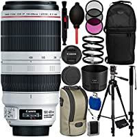 Canon EF 100-400mm f/4.5-5.6L IS II USM Lens Bundle with Manufacturer Accessories & Accessory Kit for EOS 7D Mark II, 7D, 80D, 70D, 60D, 50D, 40D, 30D, 20D, Rebel T6s, T6i, T5i, T4i, SL1, T3i, T6, T5