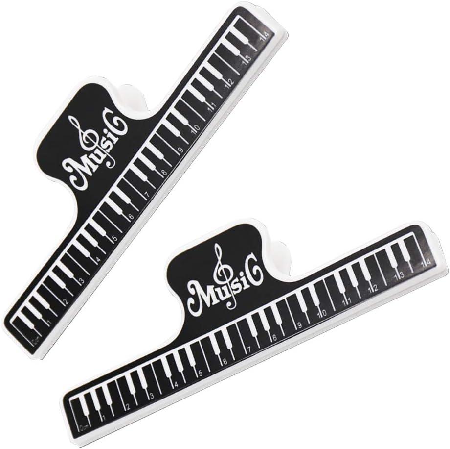 Romote 2st Music Book Clip Kunststoff Noten Holders Seite Marker Clips Datei-Clips F/ür Shops Home Office Und Schule Schwarz