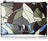 Armani Jeans Camo Printed Eco Leather Pouch Wallet, Green Urban Chic, One Size