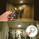LUNSY LED Puck Lights Battery Operated, Wireless