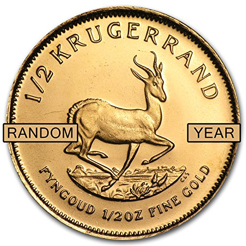 1967 ZA - Present South Africa 1/2 oz Gold Krugerrand (Random Year) 1/2 OZ About Uncirculated ()