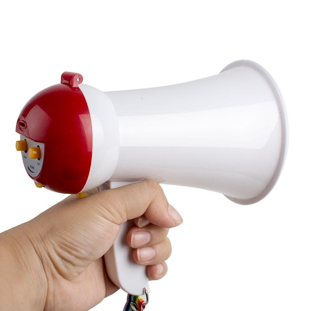 Denshine Mini Megaphone Speaker Foldable Portable Handheld Megaphone Loud Speaker Bullhorn Voice Amplifer