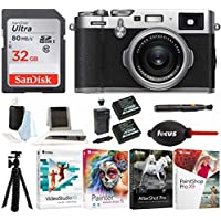 Fujifilm X100F 24.3 MP APS-C Digital Camera with Sandisk 32GB Memory Card + Corel Photo Editing Software+2 Batteries+Focus Camera Tripod & Accessories