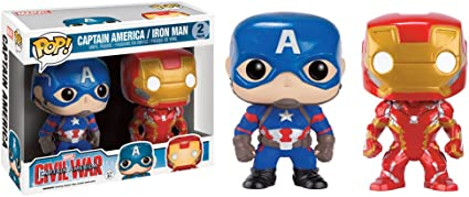 Funko 599386031 - Figura capitán amárica Civil War Iron Man + ...