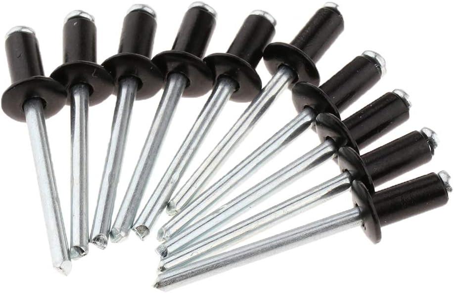 Langlebig kesoto Hochwertige Blindniete Popnieten Flachkopf Nieten aus Edelstahl Korrosionsschutz 50 Stk 4mm Durchmesser