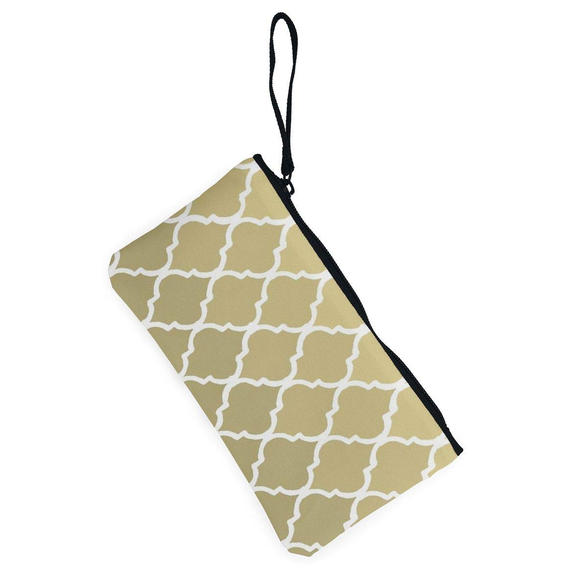 Yamini Moroccan Pattern Gold /& White Cute Looking Coin Purse Small and Exquisite Going Out to Carry Purse