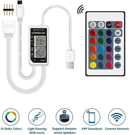 XT-XINTE LED RGB Wifi-Controller 4-poliger Stecker für TV-Hintergrundbeleuchtung