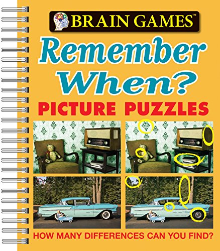 Brain Games® Picture Puzzles: Remember When? - How Many Differences Can You Find? (Brain Games (Unnumbered))