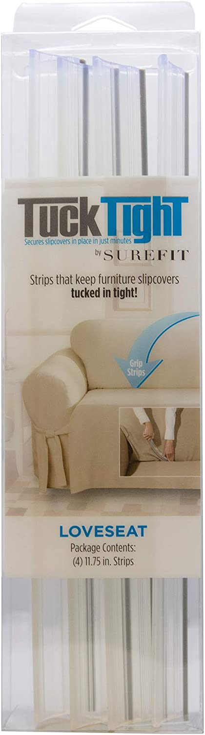 SureFit Sofa Slipcover Grip Strips - PVC, Tuck Tight, Clear
