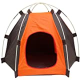 Pup-Tent, PYURS Pet Camp Tent Foldable Dog Bed House for Puppy Dog Kitten Cat