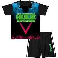 Youths Boys Hu-lk - Conjunto de camiseta y pantalones cortos de manga corta para niños y niñas