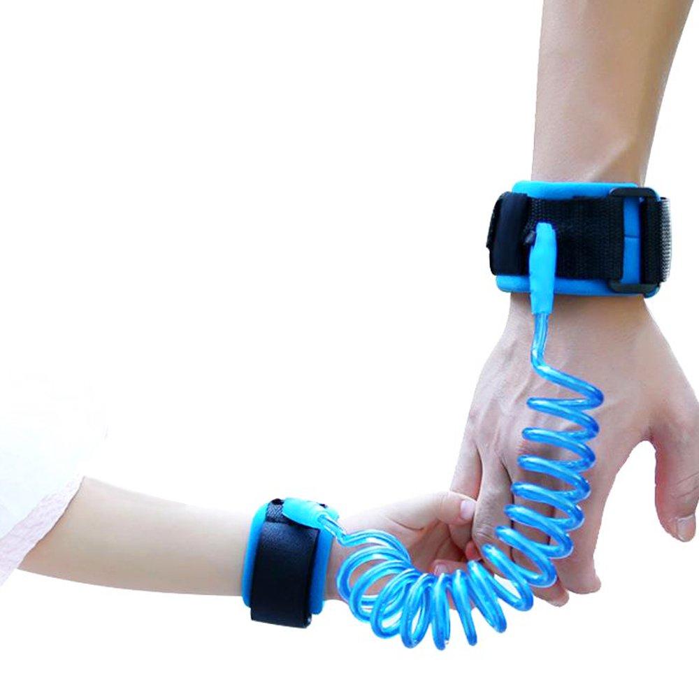 Sicherheit Handgelenk Blau Isuper Baby Anti Verlorenen Handgelenk mit Weichem Komfortablem Verschluss und Elastischem Drahtseil bis zu 2 m