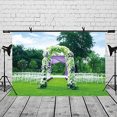EdCott 7x5ft Fondo de la Boda Tema de la Boda Flores Arco Decoración del Banquete de Boda Fotografía de Fondo Wedding Party Photo Props LYLX409: Amazon.es: Electrónica
