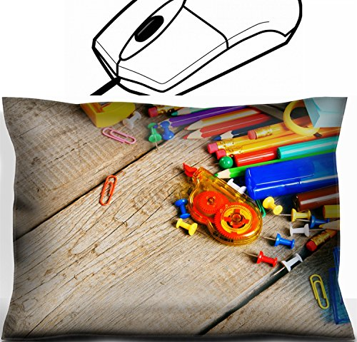 MSD Mouse Wrist Rest Office Decor Wrist Supporter Pillow design: 30873528 School tools On a wooden background by MSD