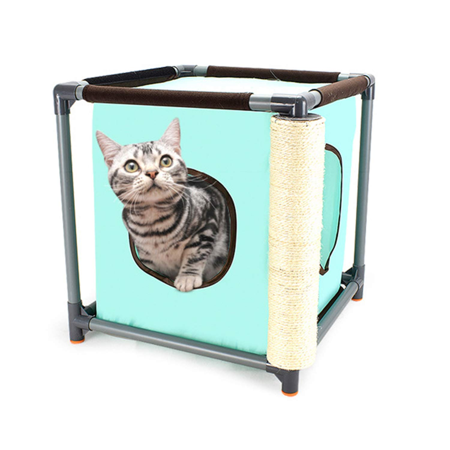 Detachable Combination Cat Litter Creative Cat Climbing Frame Oxford Cat Tunnel Grinding Claw Toy Cat Furniture 41X41X43cm