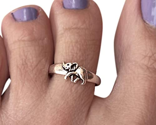 Elephant Vintage Look 925 Solid Sterling Silver Handmade Toe Ring Jewellery For Gift