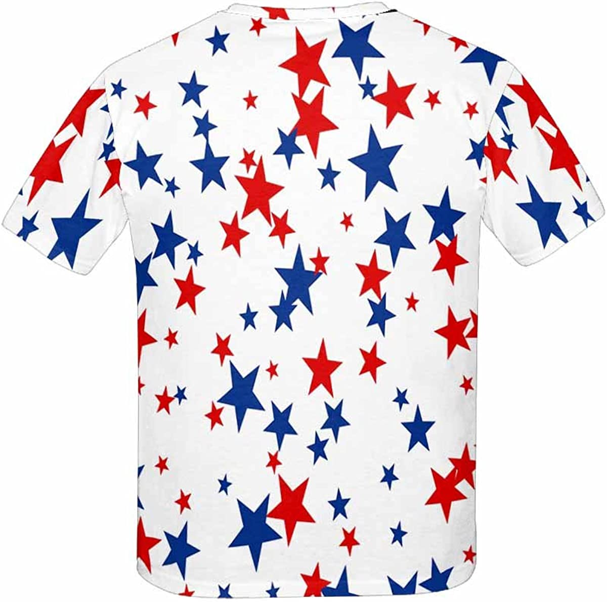 INTERESTPRINT American Red and Blue Stars Childs T-Shirt XS-XL