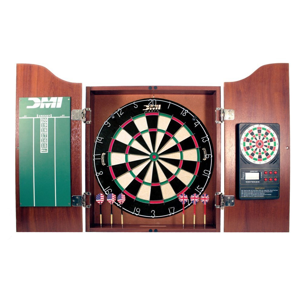 Amazon.com : DMI Sports Dartboard Cabinet With Electronic Scorer (Light  Cherry) : Dart Cabinet : Sports U0026 Outdoors