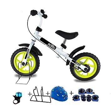 Bicicleta sin pedales Bici Bicicleta White Balance con Frenos: sin Pedales Mini Bicicleta con Ruedas de 10 Pulgadas, para 2/3/4/5/6 años: Amazon.es: Hogar