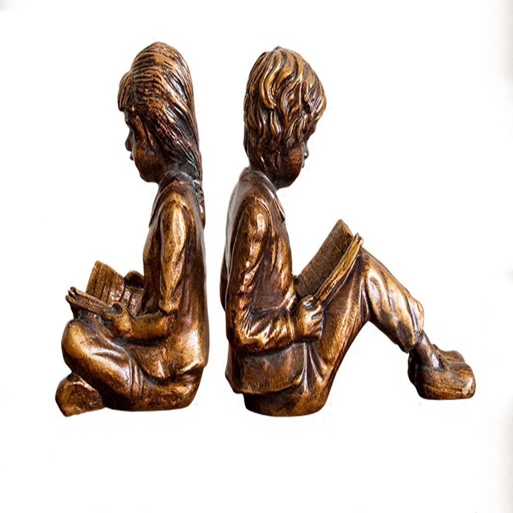 YONGLIANG Home Decoration Boy Girl Bookends Ornaments Home Decorations Living Room Study Crafts Ornaments