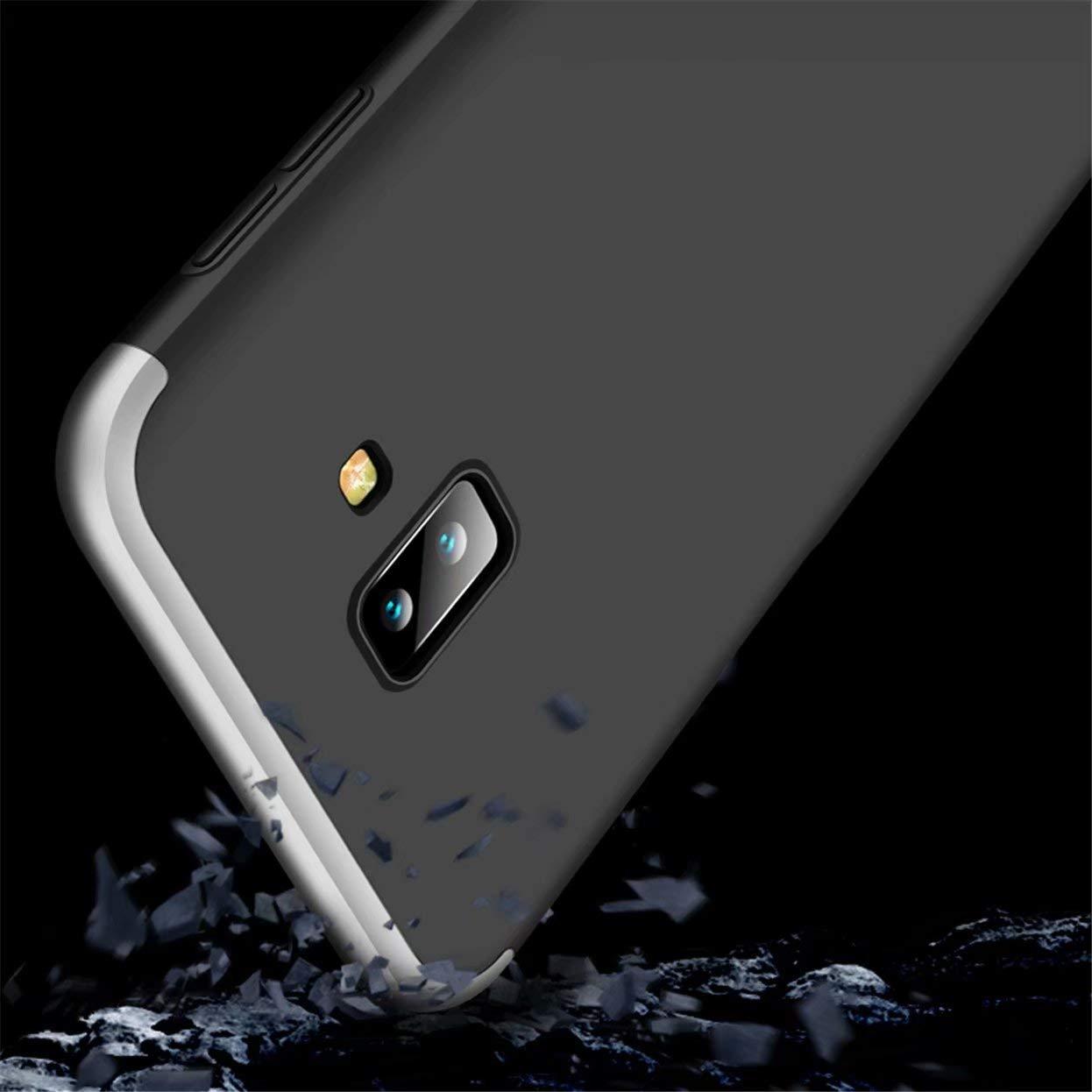 Meeter Funda para Samsung Galaxy J6 2018 HD Protector de Pantalla Carcasa Caso Case Cover para Samsung Galaxy J6 2018 Oro Rosa Carcasa M/óvil de Protecci/ón de 360/° 3 en 1 Desmontable con