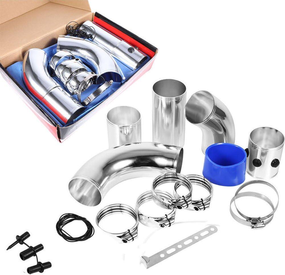 Kit de filtros de entrada de aire, 76 mm, universal, para coche de entrada de aire frío, filtro de inducción, tubo de aleación de aluminio, kit de alto flujo
