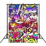 5x7ft Retro Photography Backdrops Vinyl Hip Hop Graffiti Party Decoration Photo Studio Background Props