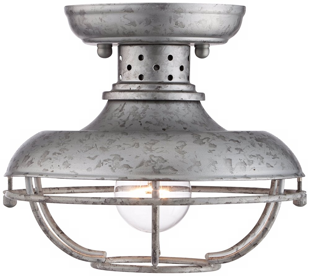 Franklin park 8 12 wide galvanized outdoor ceiling light franklin park 8 12 wide galvanized outdoor ceiling light amazon workwithnaturefo