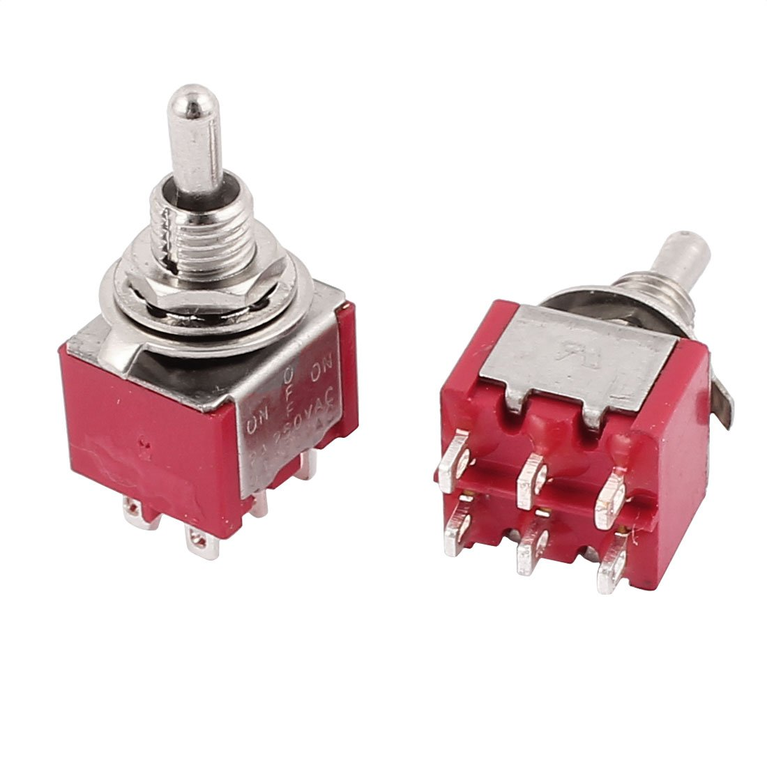 On-Off-On Miniature Toggle Switch 5A DPDT